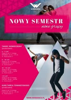NOWY SEMESTR - NOWE GRUPY